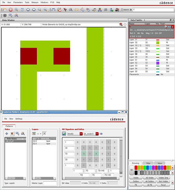 Image showing Cadence Pattern Analysis Solution workbench