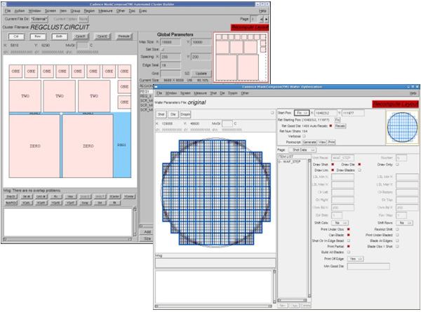 Images of MaskCompose Reticle and Wafer Synthesis tools