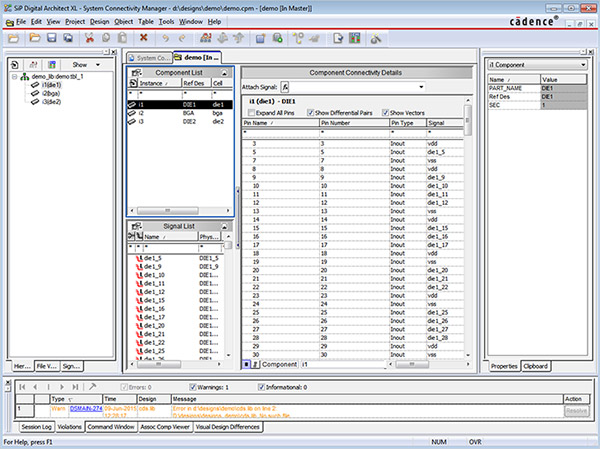 Image showing the Cadence SiP Digital Architect