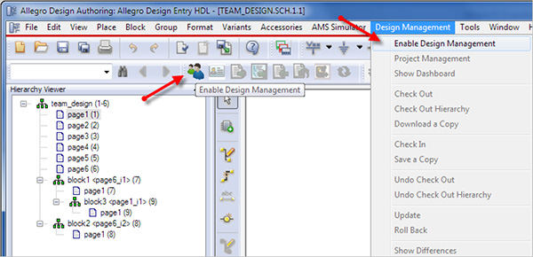 Image showing team enablement features in Allegro EDM