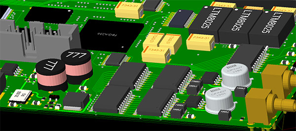 Image showing 3D Visualization with STEP model in Cadence Allegro PCB Editor