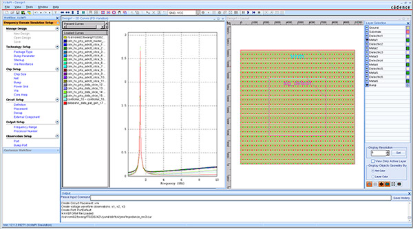 Screeenshot of Sigrity XcitePI Extraction interface display of full-chip PDN and I/O net power-aware distributed models
