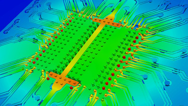 Temperature Profile of IC Package Interconnect Structures