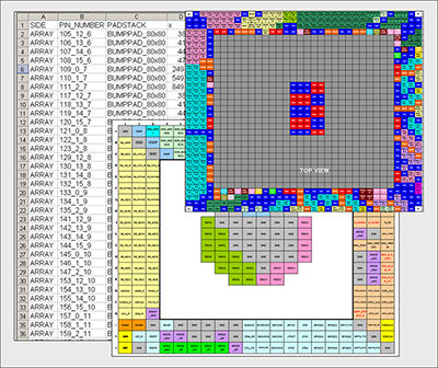 Figure 2. Spreadsheet of pin and net assignments