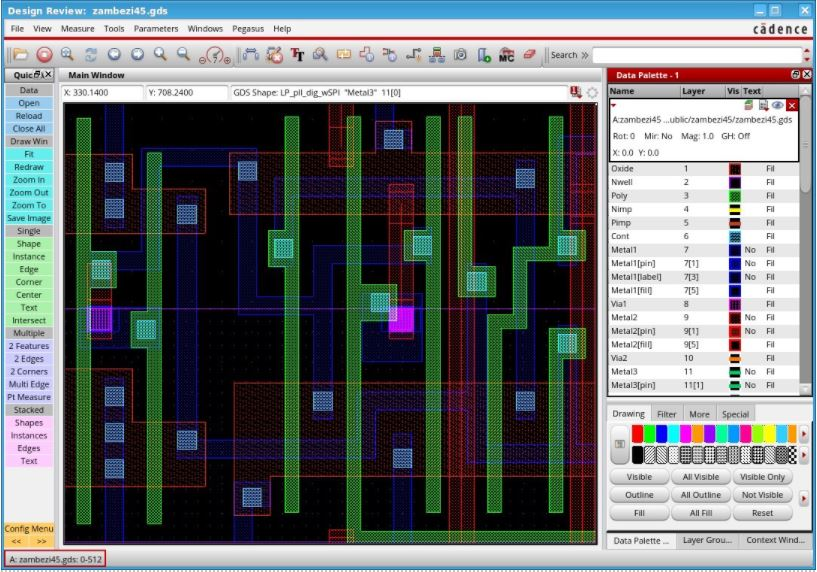 Image of Cadence QuickView Signoff Data Analysis system